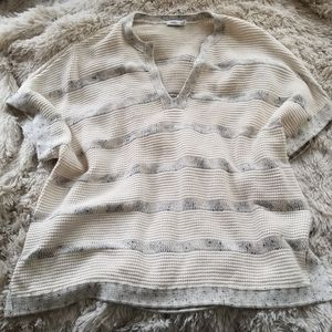 Vince striped neutral loose-fitting sweater
